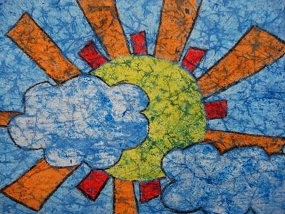 Crayon and paper Batik lesson! Inexpensive and you still get the product. This is a great blog also k-12 art teacher, who has a lot of different methods
