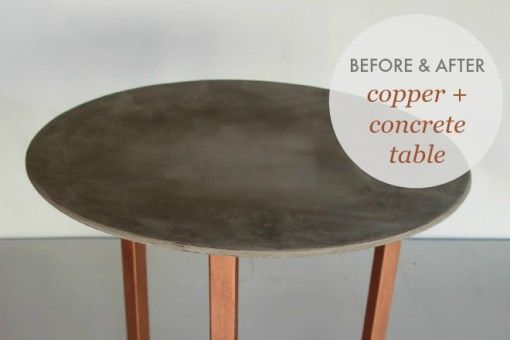 Concrete and Copper Furniture Makeover via Life Instyle Blog