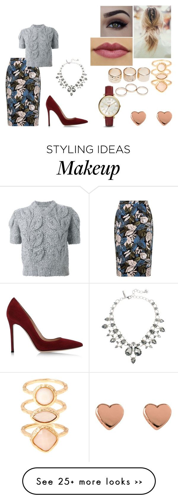 """Good Morning America"" by taynabaracho3 on Polyvore featuring Maison Margiela, Gianvito Rossi, Monsoon, Wet Seal, Ted Baker, FOSSIL and Oscar de la Renta"