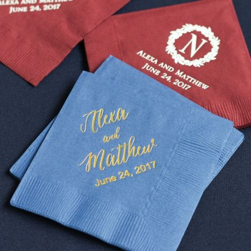 Add a personal touch to your wedding with custom napkins