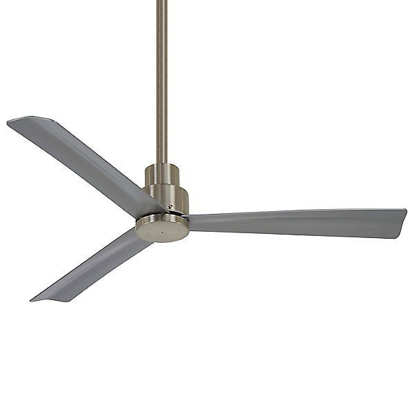 Minka Aire Simple Outdoor Ceiling Fan F786 Bnw Body Finish Silver Blade Color Silver Best Picture For Ceiling Fan Outdoor Ceiling Fans Led Ceiling Fan Minka outdoor ceiling fan