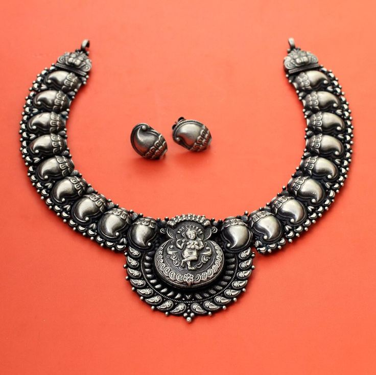silver product necklace jewellers bhima antique copy sku