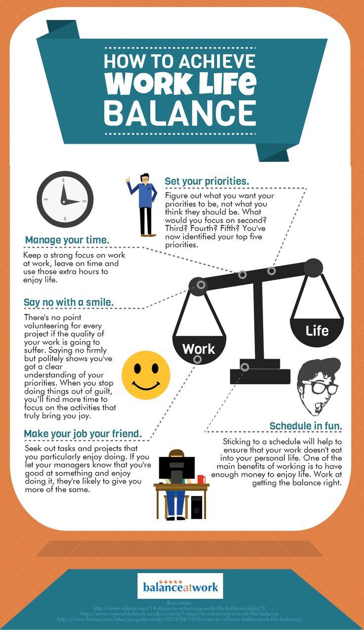 How To Achieve Work Life Balance Infographics Health