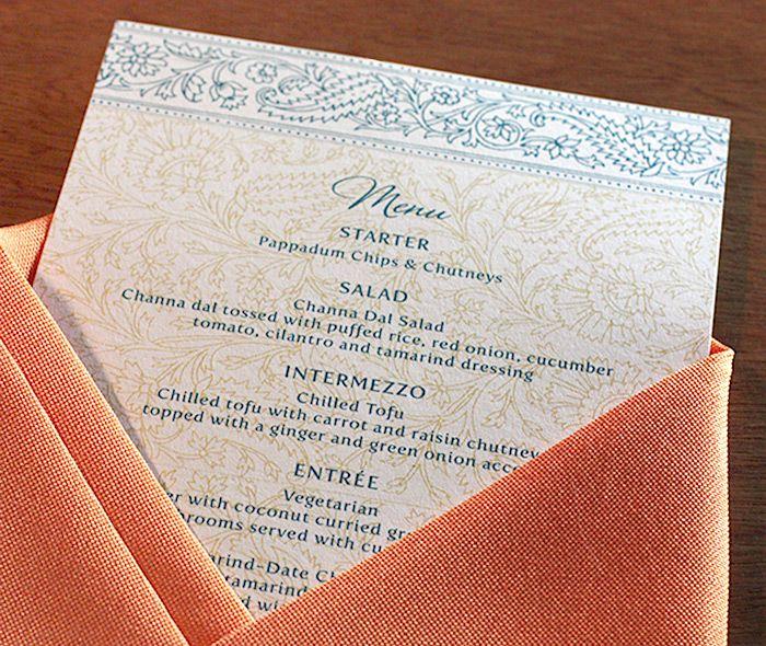 South Indian Wedding Food Menu: 17 Best Images About {reception} Menus On Pinterest
