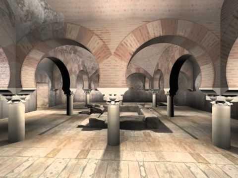 Visita virtual a los Baños Arabes de Jaén. Reconstrucción hipotética ret...