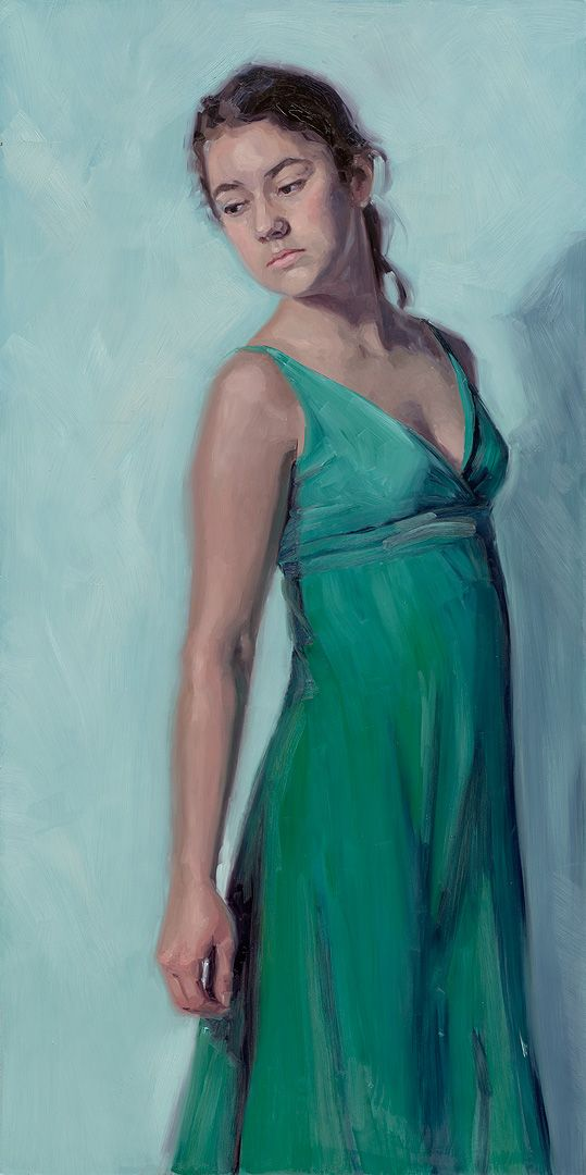 Model painting by Carolien van Olphen. Oil on panel. 60x120 cm