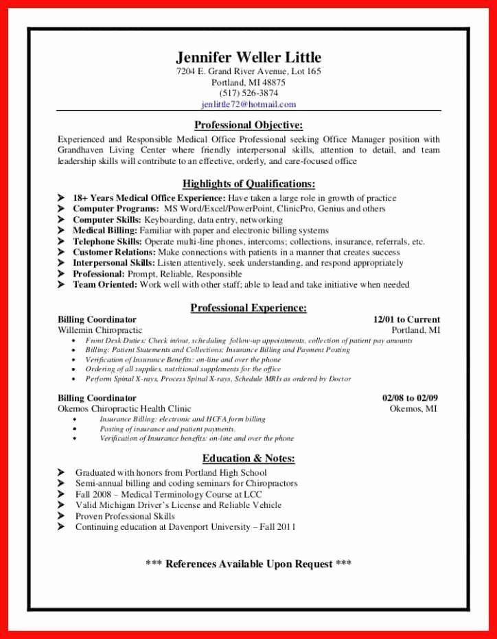 Billing And Coding Resume Elegant Billing And Coding Resume Billing And Coding Resume Coding
