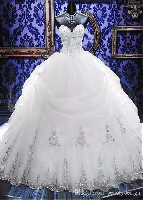 2017 Masquerade Dress Ball Gowns Debutante Quinceanera Dresses Lace Appliques Organza Gold Beaded Sequined Wedding Dresses Custom Made Ball Gown Sweetheart Wedding Dress Ball Gown Wedding Dress Designers From Beautydesign, $455.48| Dhgate.Com