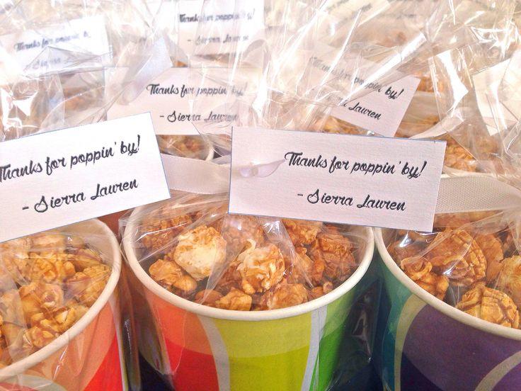 Caramel Popcorn Giveaways for Baptism