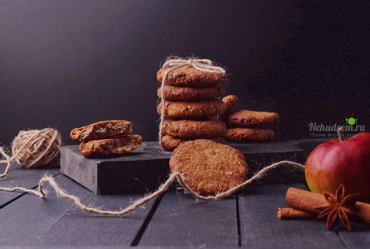 Постное овсяное печенье без сахара