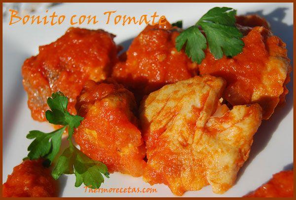 bonito con tomate. Fácil y sencillo.