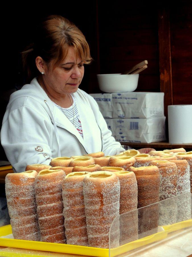 These are Chimney Cakes (Kürtőskalács) at the Debrecen Gourmet Food Market.