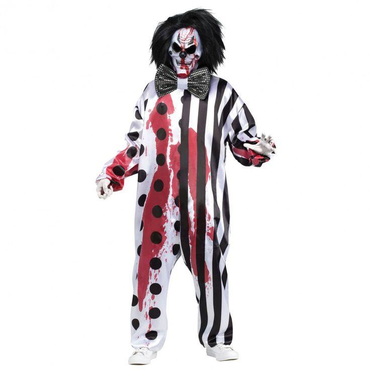 Costume de Fantaisie pour Adulte Clown Tueur Sanglant