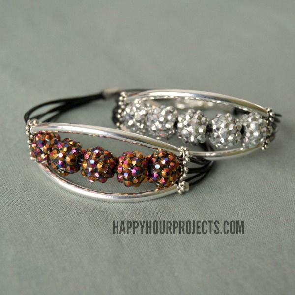 ring online shop 10 Minute Glittering Tube Bead Bracelet Video Tutorial at www hhappyhourprojects com  ad  QuickCraftsHOA