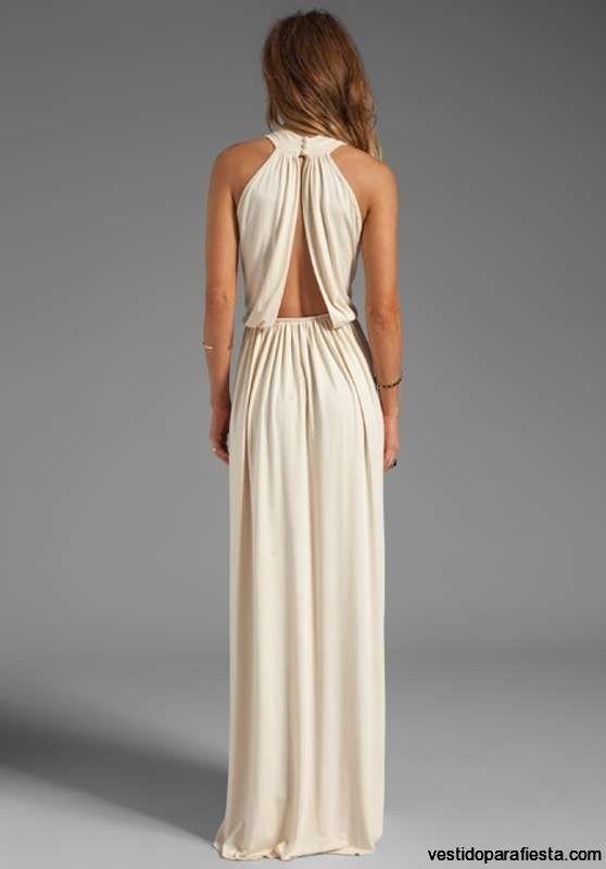 I➨Elegantes y modernos vestidos largos de fiesta con escote en la espalda - 14