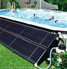 Solar Heat Panel, much needed if you want an outdoor pool in Seattle....