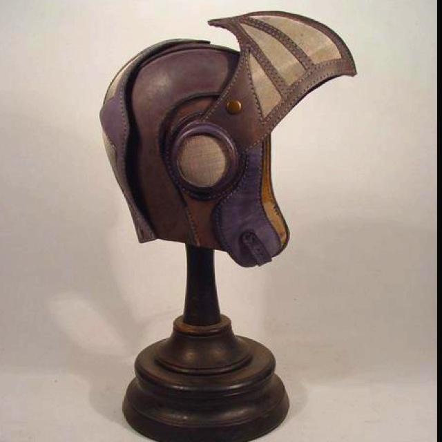 Flight helmet: Steampunk Creations, Steampunk Age, Flight Helmets, Crash Helmets, Steampunk Style, Steampunk Ideas, Steampunk Decor