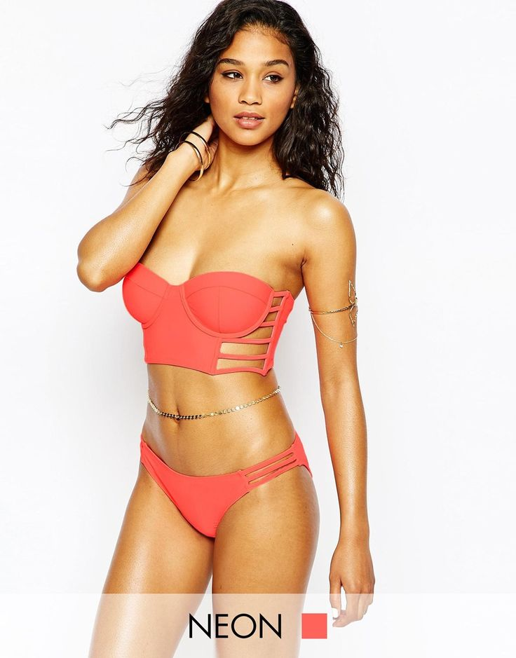 Missguided Caged Bustier Bikini