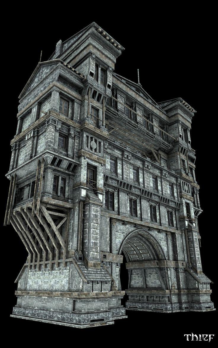 Thief - Watch Gates, Vincent Joyal on ArtStation at https://www.artstation.com/artwork/B9Gvm