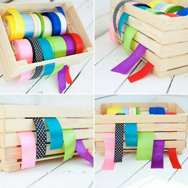 Органайзер для хранения лент http://woodyhandmade.com.ua #woodyhandmade #handmade #satinribbon #ленты #органайзер