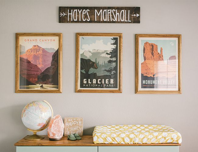 I was originally inspired by the national parks posters by Anderson Design Group. I loved the colors and the mid-century modern feel.