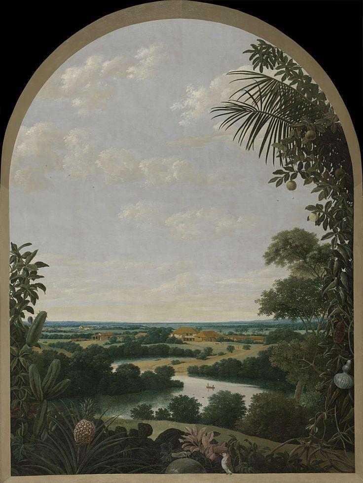 Landschap in Brazilië, Frans Jansz. Post, 1652