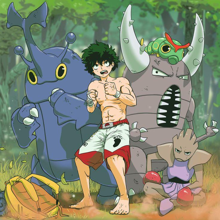 Um artista norte-americano conhecido na internet como Zea Webb fez um crossover super bacaninha de personagens de Boku no Hero no Academia e Pokémon!