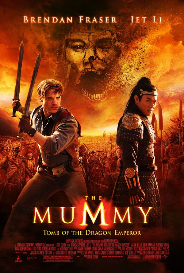 The Mummy Tomb of the Dragon Emperor(Didn't like it as far as the Mummy franchise goes, but i like Fraser and Li)