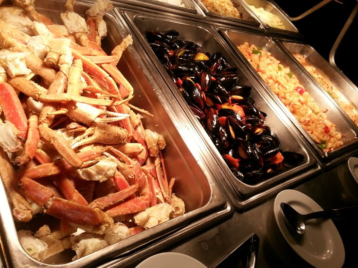 Only a portion of the seafood on offer during our Friday night Seafood Buffet.