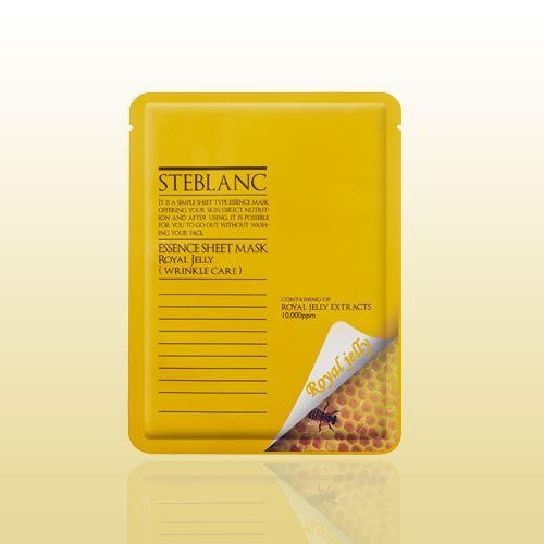 Маска для лица STEBLANC ESSENCE SHEET MASK-RoyalJelly содержит пчелиное маточное молочко, которое предотвращает возрастные изменения, разглаживает морщины, восстанавливает упругость и эластичность. Экстракт маточного молочка содержит все необходимые витамины, белки, жиры и влагу для питания и увлажнения кожи. Материал маски изготовлен из волокон высокого сорта, отлично прилегает к коже, способствует быстрому впитыванию всех компонентов маски. #кожалица, #здоровье, #красота, #средствапо...