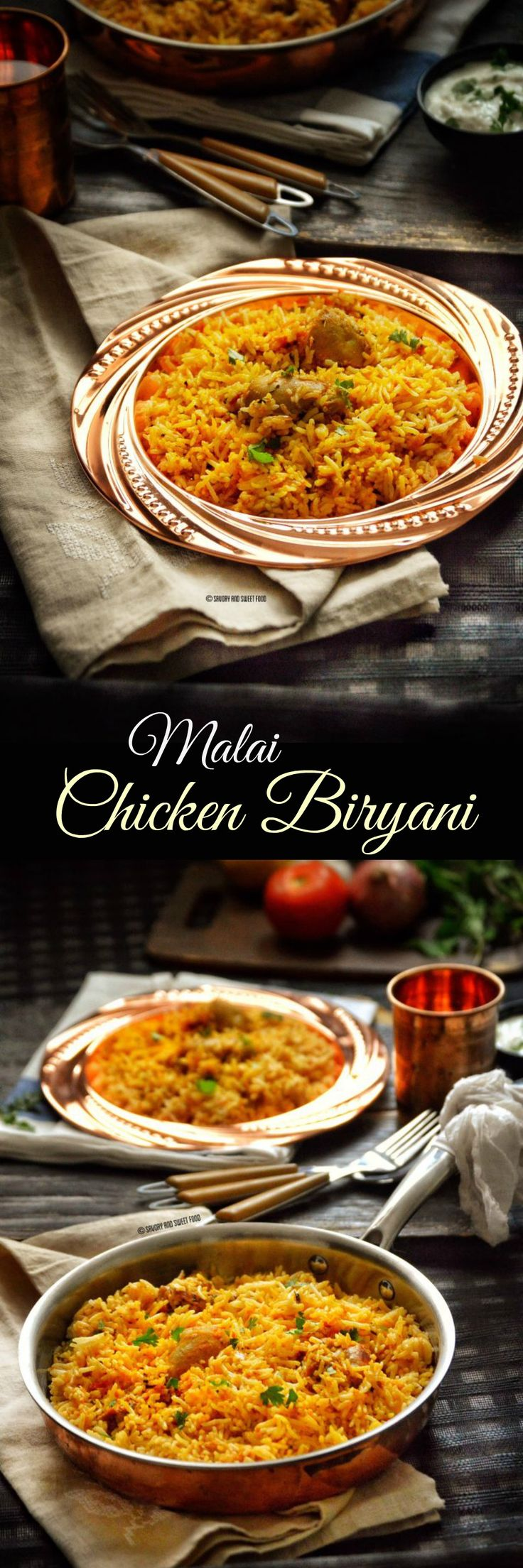 A very tasty chicken biryani, with fragrant spices such as coriander, turmeric, and kasuri methi (Dried fenugreek leaves) infused into a creamy and rich masala and assembled with layers of rice which is finally sprinkled with a highly aromatic saffron milk.