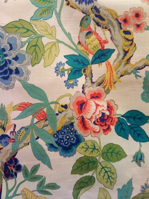 ~ Chinoiserie fabric