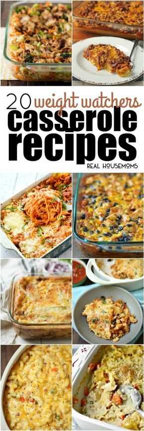 These 20 Weight Watchers Casserole Recipes will help you eat better while still enjoying your favorite comfort foods! #Weightwatchers #Casseroles #Comfortfood #Realhousemoms