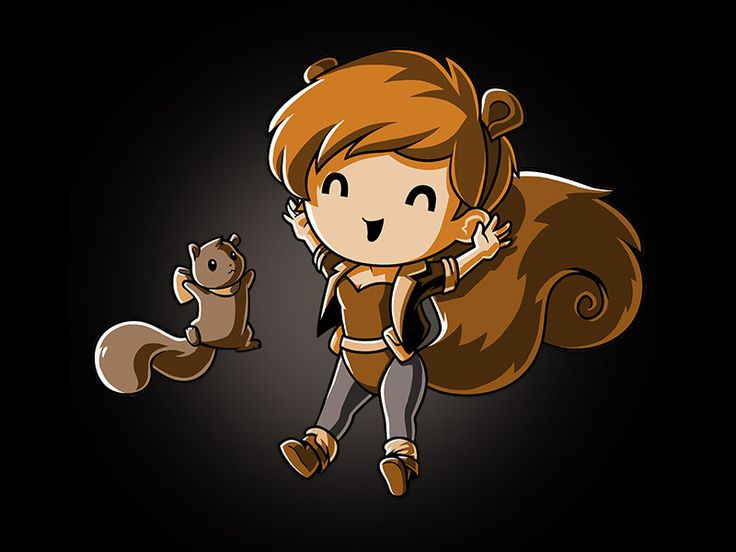 Squirrel Girl, Squirrel Girl! She's a human and also a squirrel! Get the Squirrel Girl! t-shirt only at TeeTurtle!