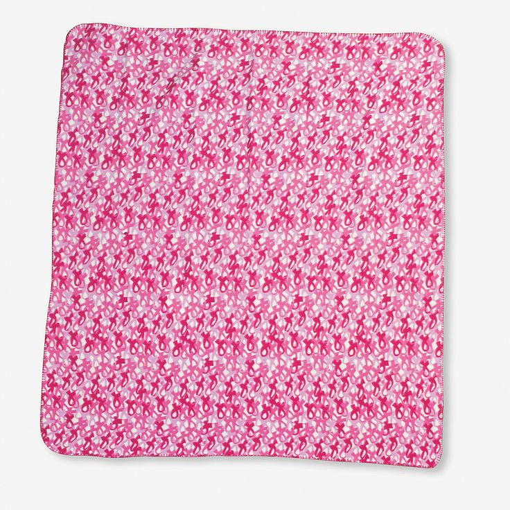 Pink Camouflage Throw