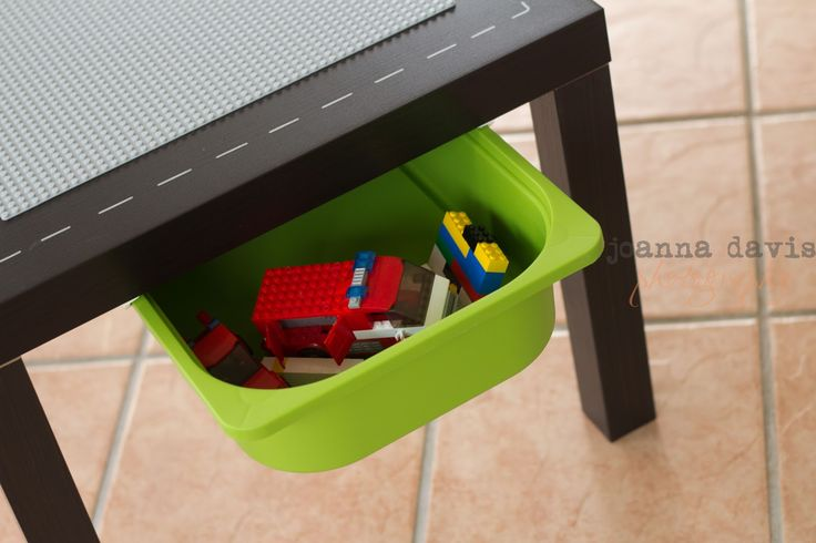 DIY Lego Table with all of the specific instructions for a successful project @ PreK+K Sharing