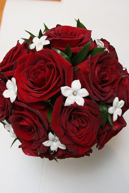Brides bouquet. I'd want roses instead of the little white flowers. : Brides Family