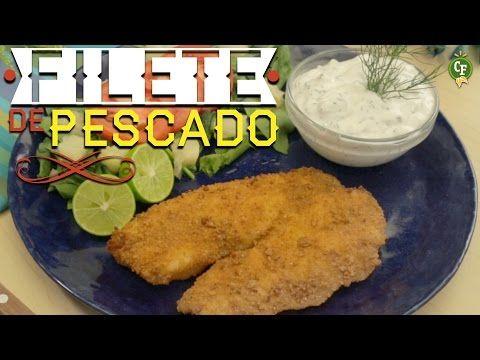 ¿Cómo preparar Filete de Pescado Empanizado con Aderezo de Pepino? - Cocina Fresca - YouTube