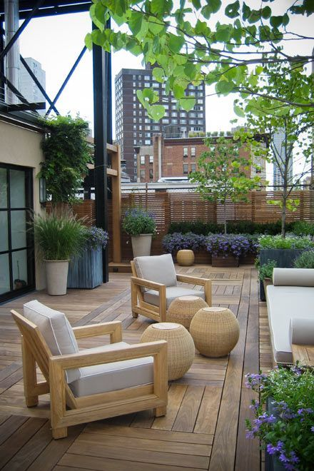 This is very chic and I like the different angles; the decking adds interes