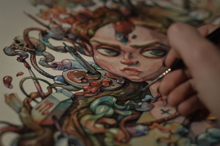 Artoxication - Watercolor Painting Timelapse