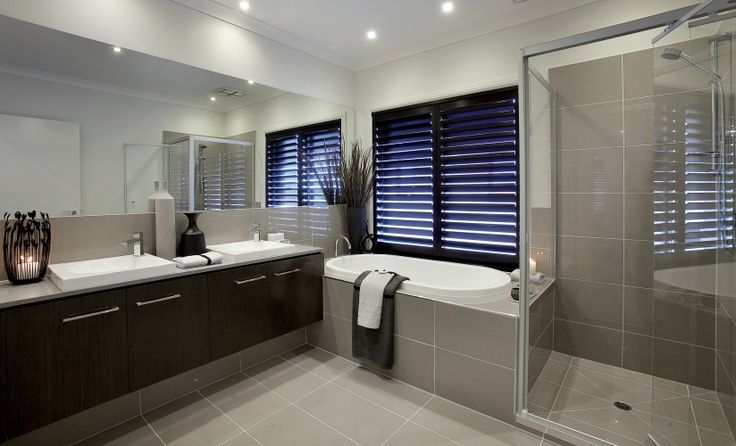 House Design: Sandringham - Porter Davis Homes Could change the vanity/shutters to white