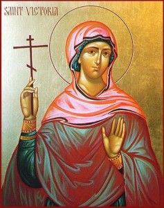 Saint Victoria is one of the few saints to have their murderer also face death and illness directly following the act.