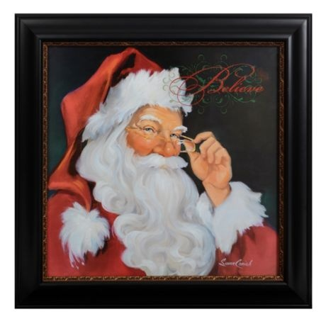 Believe Santa LED Framed Art Print | Kirkland's: Santa Frames, Christmas Time, Frames Art Prints, Framed Art Prints, Santa Christmas, Christmas Art, Frames Prints, Frameart, Christmas Ideas