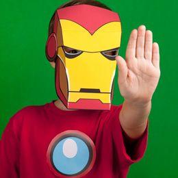 Máscara de Iron Man para imprimir.