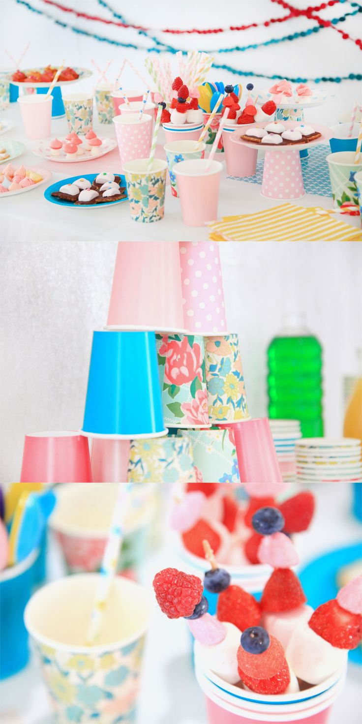 Birthday party http://www.griottes.fr/my-sweet-little-dayKids Parties, Parties Cups, Colors Parties, Birthday Parties, Summer Parties, Parties Ideas, Boys Room, Paper Cups, Party Ideas