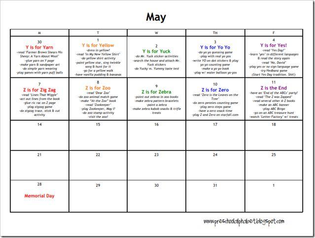 Calendar Ideas For May : May preschool calendar kids pinterest activities