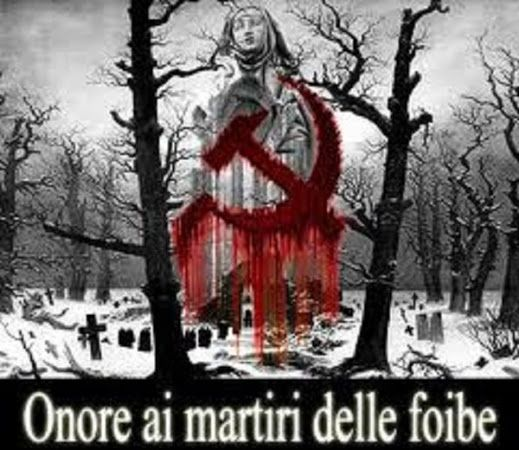 Onore ai martiri delle foibe
