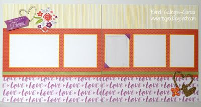 "teojax: ""You have my Heart"" double layout - Whimsy Fundamentals, Baby Girl Complements, Whimsy Ribbon Pack, CTMH, Close to My Heart, teojax"