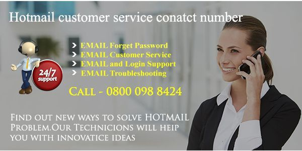 Hotmail contact is a website designed to help you in times of hotmail problems. As soon the customer call the hotmail customer service contact number of our company the call is directed to the help desk department where the user is answered by an expert executive.