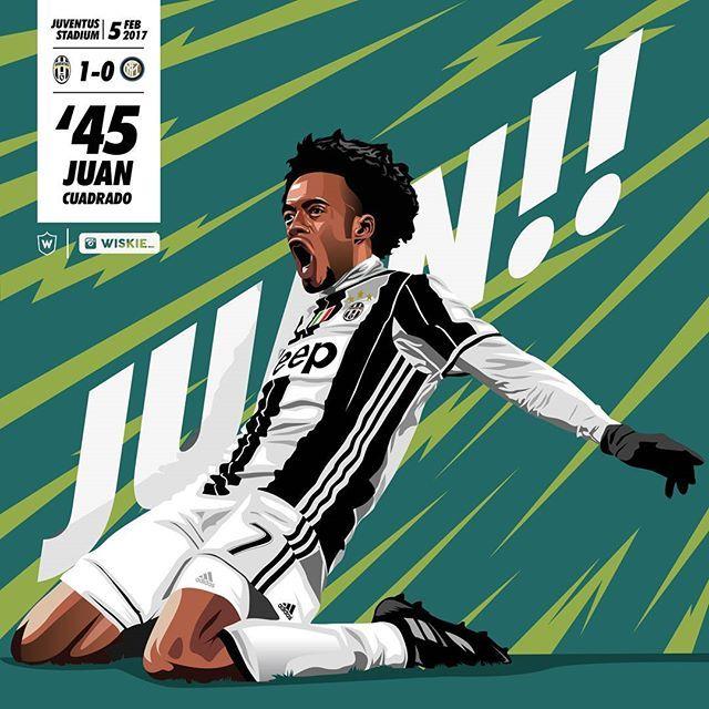 Remember the goal, remember the name.. . . Juaaaaaannnnnnnn!!!???? @cuadrado !!!!!! . . Please rate for his goal against Inter . . #art #illustration #vectorart #vexel #juan #cuadrado #juvetoday #JuveArt #juventus #instajuve #finoallafine #forzajuve #instajuve #2bejuventus #colombia #instagram #inter #merda #wiskie